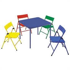 5 piece kids metal folding table set