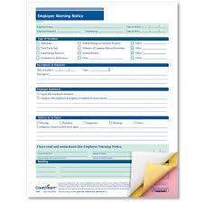 free employee warning forms employee warning notice 3 part