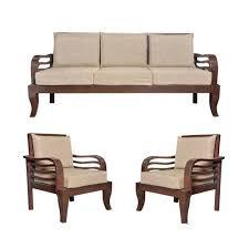 lrf brown teak wood sofa set for home
