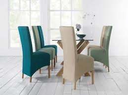 teal dining room chairs awesome nina oak teal fabric wing back dining chairs