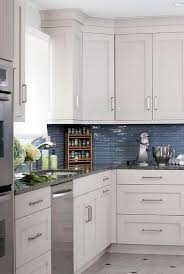White Cabinets Blue Backsplash Design Ideas