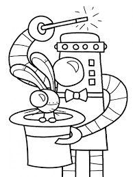 Small Picture Coloring Pages Kids Robot And Monster Coloring Pages Robot