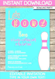 Bowling Pin Invitation Template Stephhammer Co