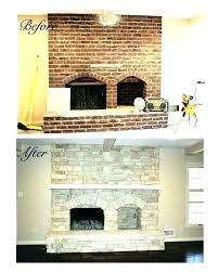 fireplace with stone refinish brick fireplace fireplace cost to reface brick fireplace with stone veneer
