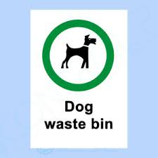 Dog Waste Bin - Sign or Sticker - All Sizes Available - Dog Fouling Clean, Waste | eBay