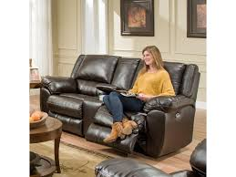 simmons loveseat. simmons upholstery 50433br double motion console loveseat with usb charging port - royal furniture reclining love seats