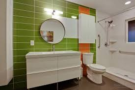 green bathroom interior design bathroom lights mid century