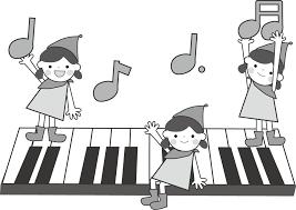音符と子どものイラスト無料イラストフリー素材 3