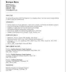Resume Format For Quality Control Engineer Resume Template Easy