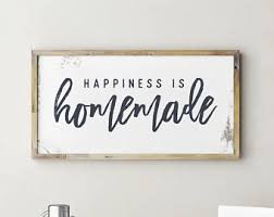 Printable Sign, Happiness is Homemade, Happiness is Homemade Sign,  Happiness is Homemade,