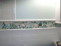 astounding kitchen and bathroom decoration with beach glass tile backsplash interactive kitchen and bathroom wall