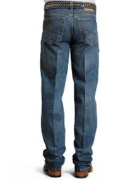 Stetson Mens 1520 Mid Rise Relaxed Fit Straight Leg Jeans Medium Stonewash