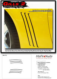Details About Gills 2 Vent Insert Stripe Decal 3m Vinyl Graphic Gm Ls Lt Ss 2014 Chevy Camaro