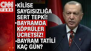 Kurban Bayramı tatili kaç gün olacak? Cumhurbaşkanı Erdoğan tek tek  açıkladı! İşte tüm detaylar... - YouTube