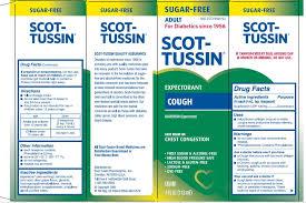 Scot Tussin Expectorant Sf Cough Liquid Scot Tussin