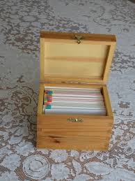 index card file box