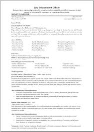 Resume For Police Officer Police Officer Resume Example Beautiful Police Ficer Resume Luxury
