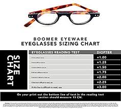 Reading Glasses Size Chart Boomer Eyeware Classic Stylish Half Professor Under Frame Reading Glasses For Men Women 2 25 Black