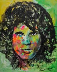 saatchi art artist carlos pun painting famous pop art celebrity jim morrison