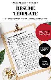 Amazon Com Alexander Knowels Resume Cv Template For