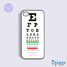 Eye Test Chart For Phone Iphone 6 Tough Case 4 7 Inch Model Eye Test Chart Iphone