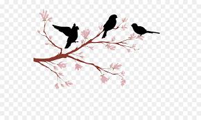 love birds on branch silhouette. Interesting Branch Lovebird Branch Silhouette  Peach Tree Birds With Love Birds On R