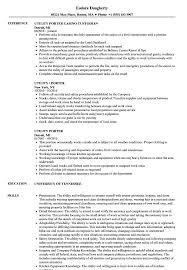 Utility Porter Sample Resume Utility Porter Resume Samples Velvet Jobs 1