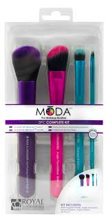 royal and langnickel moda pro makeup brushes plete kit 5 count walmart