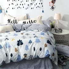single bedding sets cotton tree print bedding set double single bed sheet pillowcase and duvet cover