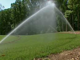 begin installing an irrigation system