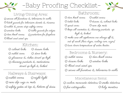 Baby Check List Free Baby Proofing Checklist Printable Frugal Fanatic