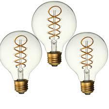 Light Bulb Shell Elfeland 3pcs Dimmable E27 B22 G80 Vintage Amber Glass Shell 3w Led Cob Light Bulb For Indoor Home