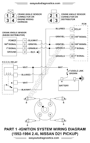 part l nissan d pickup ignition system wiring 1992 1993 1994 2 4l nissan d21 pickup ignition system wiring diagram part 1