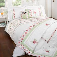 cascade white pink vintage ruffle single duvet cover set
