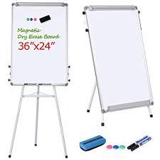Whiteboard Flip Chart Yaheetech Portable Dry Erase Easel Magnetic White Board Dry Erase Board Tripod Whiteboard Flipchart Easel Height Adjustable For Office Home School W 1
