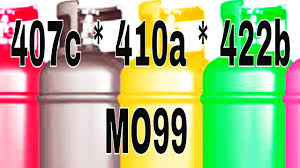 Refrigerant Properties And Charging R410a R407c 422b 438a Mo99