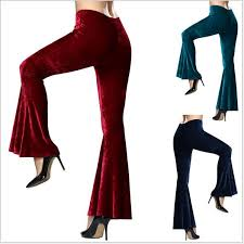 <b>Womens</b> High-Waist Trousers Flare <b>Flannel</b> Pants Bell-Bottom ...
