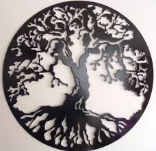 tree of life wall decor metal art black with most up to date black metal wall
