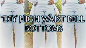 diy high waist bell bottoms