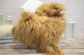 icelandic large sheepskin real sheepskin rug blonde sheepskin rug fur rug home decor janisl34