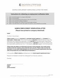 Employment Verification Letter Template Verification Letter