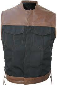 club style vest leather cordura blackbrown vintage