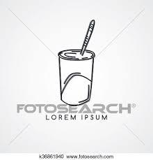 ジュース カップ 冷たい飲み物 クリップアート切り張りイラスト絵画集