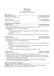 Stanford Resume Template