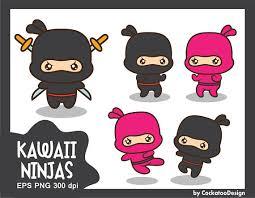 cute ninja clipart. Simple Ninja 50 OFF SALE Ninja Clipart Kawaii Ninja Clip Throughout Cute Clipart E