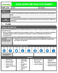 Method Of Statement Sample Safe work method statement template elemental snapshoot sample 100 77