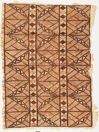 Samoan Siapo Designs Bark Cloth Large Panel Of Tapa Cloth 19th Or Early 20th
