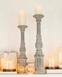 24in Zinc Wash Candle Holder Main