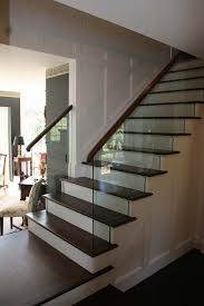 My stair railing design using glass to complement traditional decor   Glass  Stair Railings   Pinterest   Railing design, Glass stairs and Traditional  decor