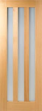 lpd oak utah 3 panel frosted glazed